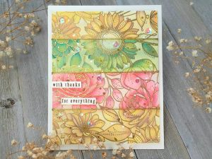 Pretty Fall Floral Panel w/Oxide Inks