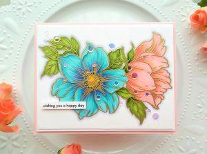 Beautiful Large Flower Stamp
