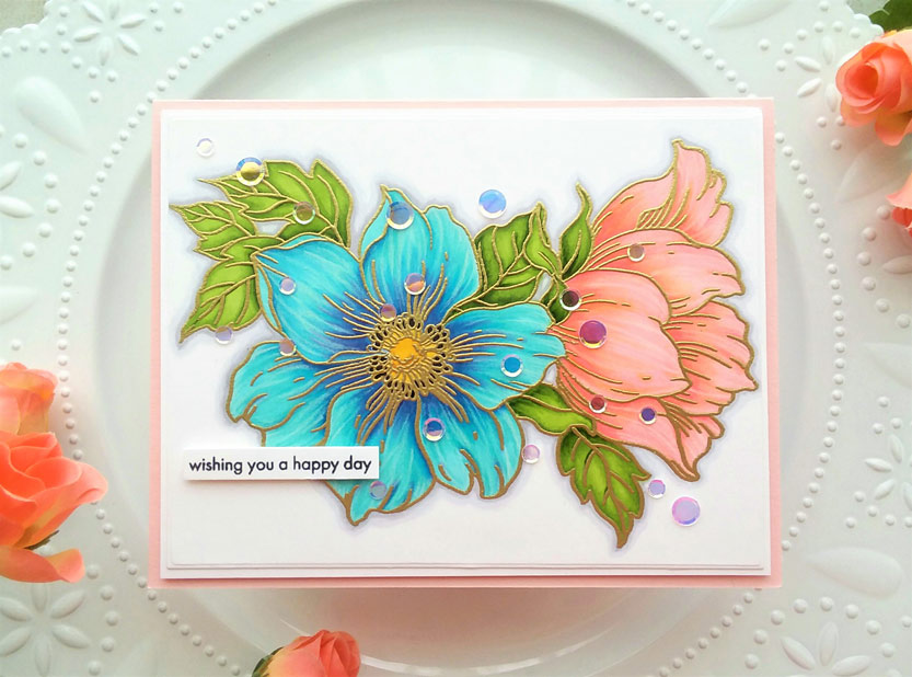 Beautiful Large Flower Stamp