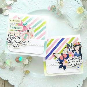 Read more about the article Stamped Stripes, Glitter Gel and Layered Stickers