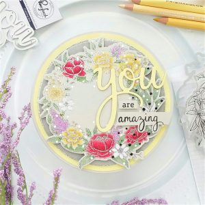 Read more about the article Soft Yellow Floral Circle Card