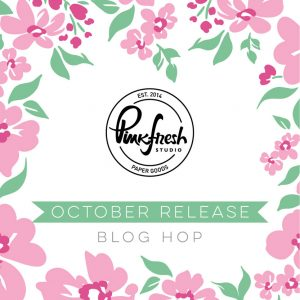 Pinkfresh Studio October 2020 Slimline Stamp, Die, and Stencil Release Blog Hop!