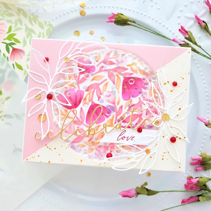 Celebrate Love Shaker Card