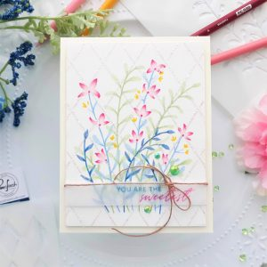 Read more about the article Enchanting Meadow Stencil With Colored Pencils