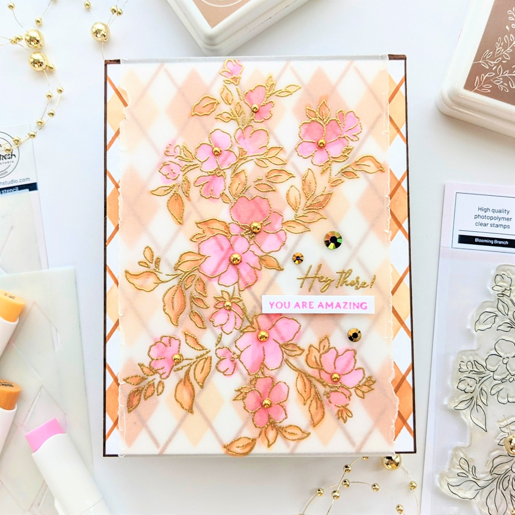 Read more about the article Blooming Branch w/Alcohol Markers on Vellum